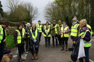 Clean for the Queen, 9 April 2016, Ryme Intrinseca residents clear a ton of rubbish